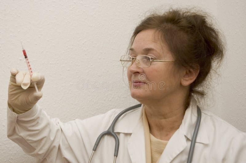 医生注射器 库存图片