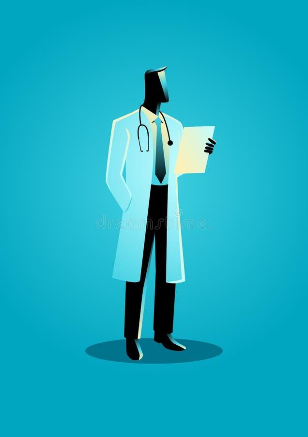医生的图表传染媒介例证 向量例证