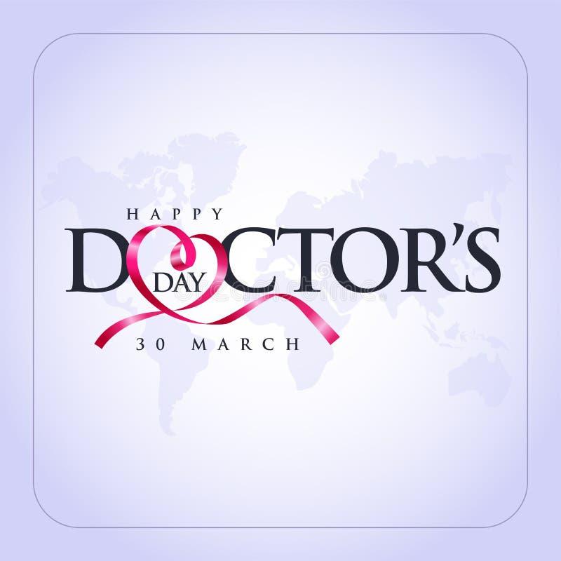 医生的3月30日,世界Day 概念贺卡,全国医生Day Template cal 向量例证