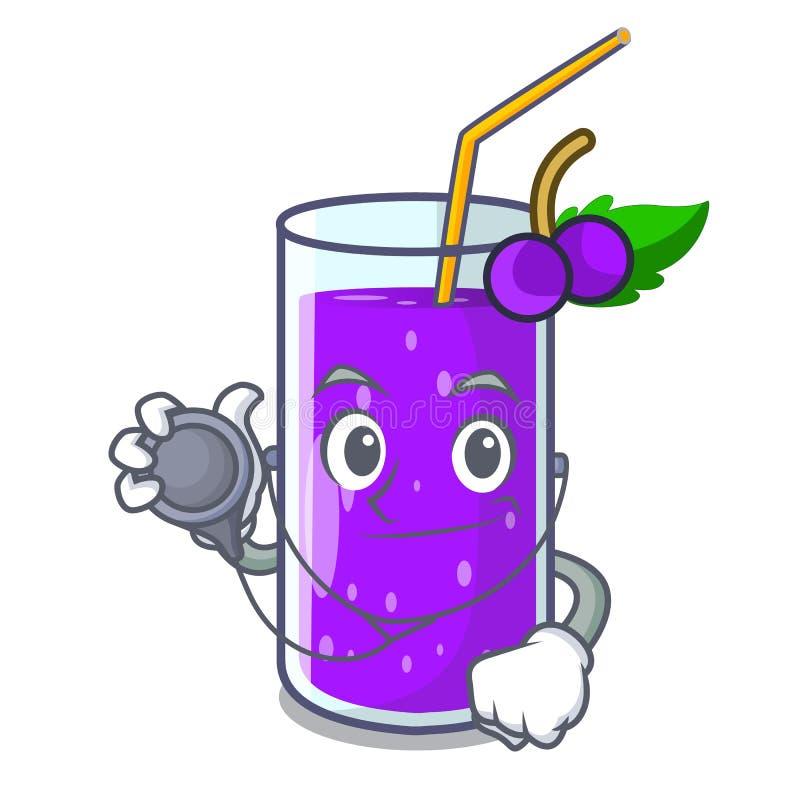 医生葡萄汁装瓶与在动画片 皇族释放例证