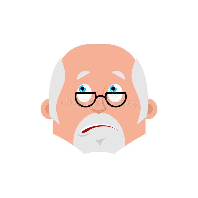 医生迷惑了情感具体化 医师困惑不解的emoji Vec 皇族释放例证