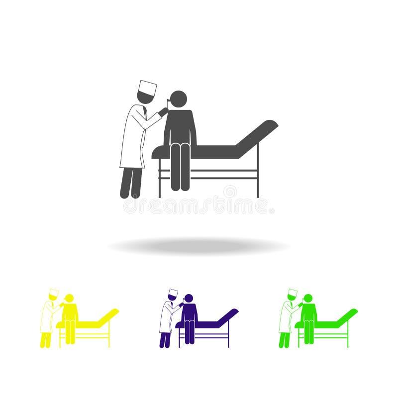 医生\'s任命象的患者 患者的元素医院象的 优质质量图形设计 标志, outli 库存例证