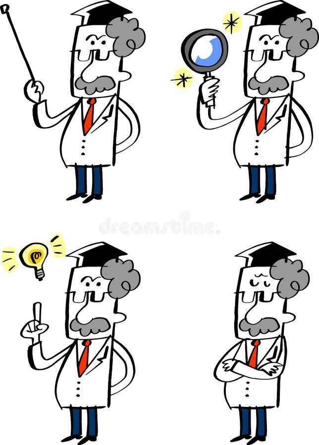 医生` s 4种类各种各样的姿势 皇族释放例证