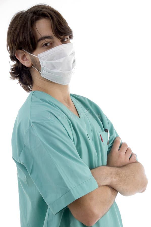 医生facemask洗刷 库存图片