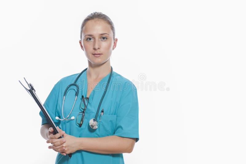 医疗人员: 护士 免版税库存照片