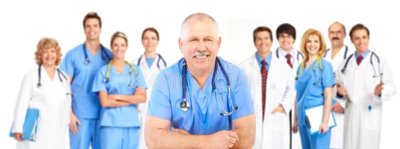 医疗人微笑 库存照片