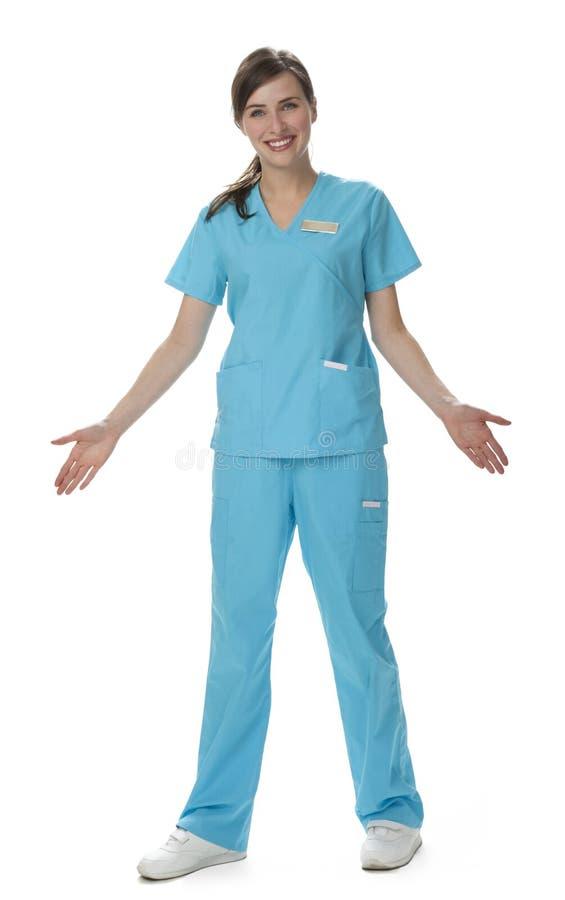 医疗保健俏丽的工作者 库存照片