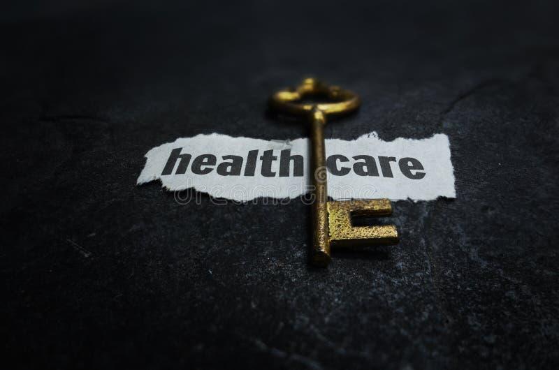 医疗保健钥匙 免版税库存图片