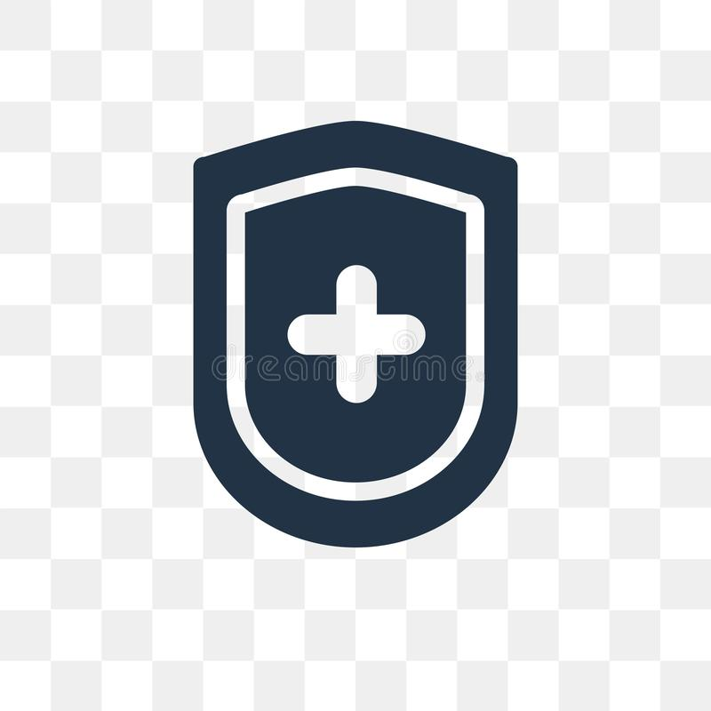 医疗保险在透明背景隔绝的传染媒介象 库存例证