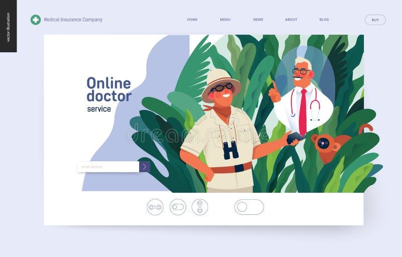 医疗保险金模板-网上医生服务 皇族释放例证