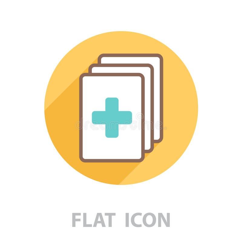 医疗剪贴板清单传染媒介 库存例证