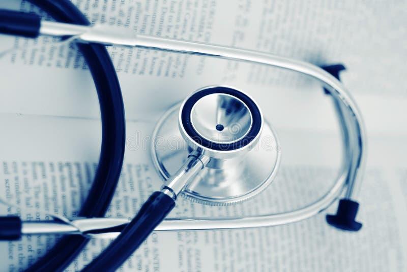 医疗听诊器工具 免版税图库摄影