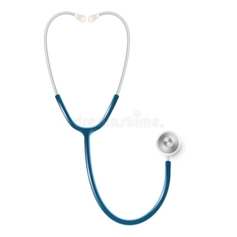 医疗和医疗保健概念,在白色背景隔绝的s医生听诊器 10 eps 皇族释放例证