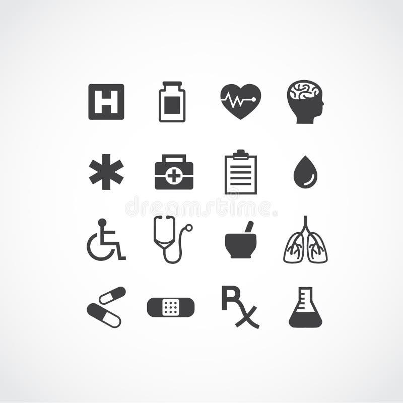 医疗图标 库存例证