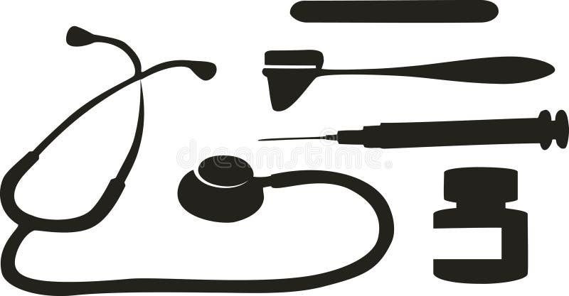 医疗工具 向量例证