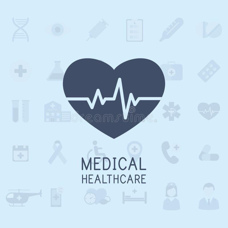 医疗平的传染媒介背景,医疗保健,急救 向量 皇族释放例证