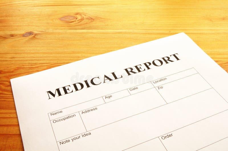医疗报告 免版税图库摄影