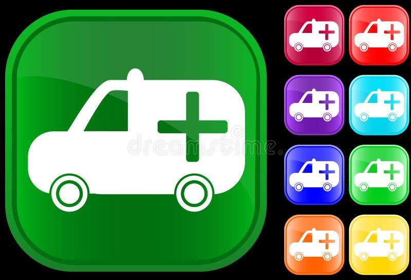 医疗救护车的图标 库存例证