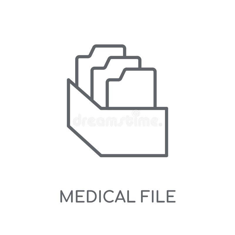医疗文件线性象 现代概述医疗文件商标conce 库存例证