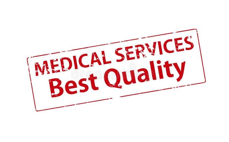 医疗服务最佳的质量 库存例证