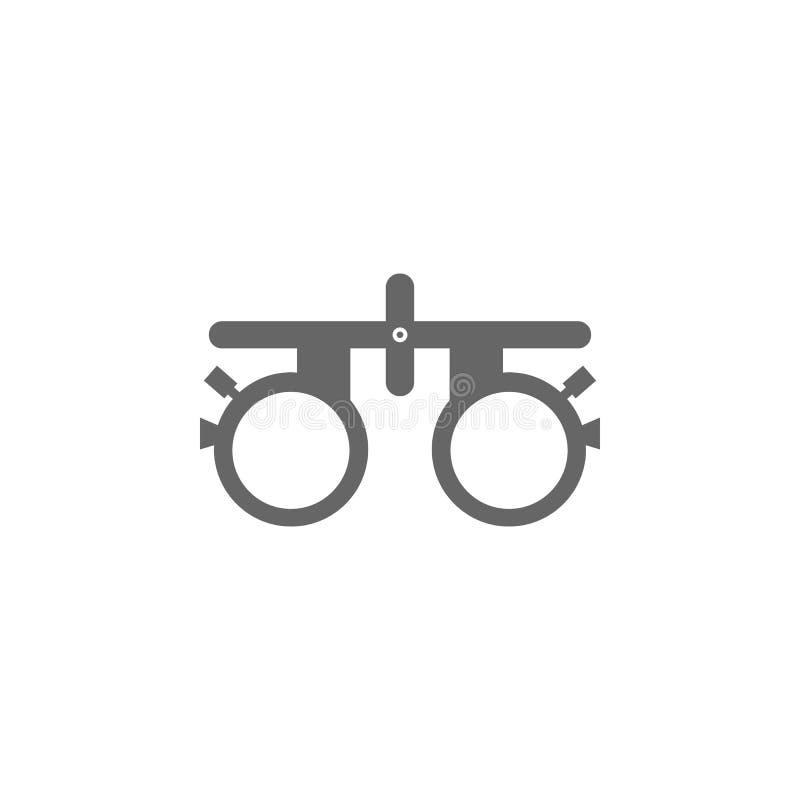 医疗检眼计象简单的元素例证 从医疗收藏的标志设计 眼睛检查设备 可以是用途 皇族释放例证