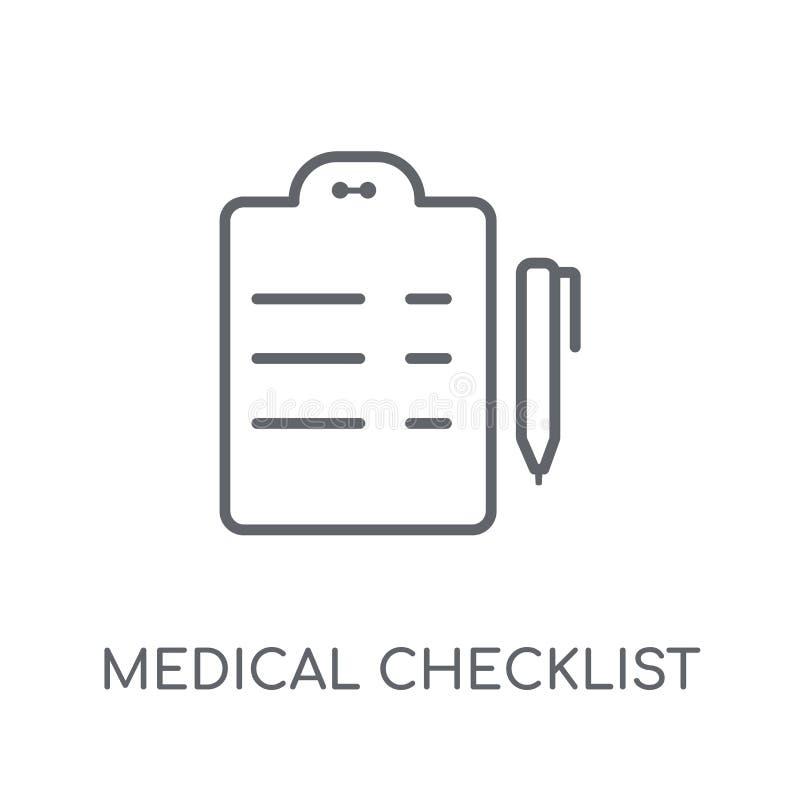 医疗清单线性象 现代概述医疗清单 皇族释放例证