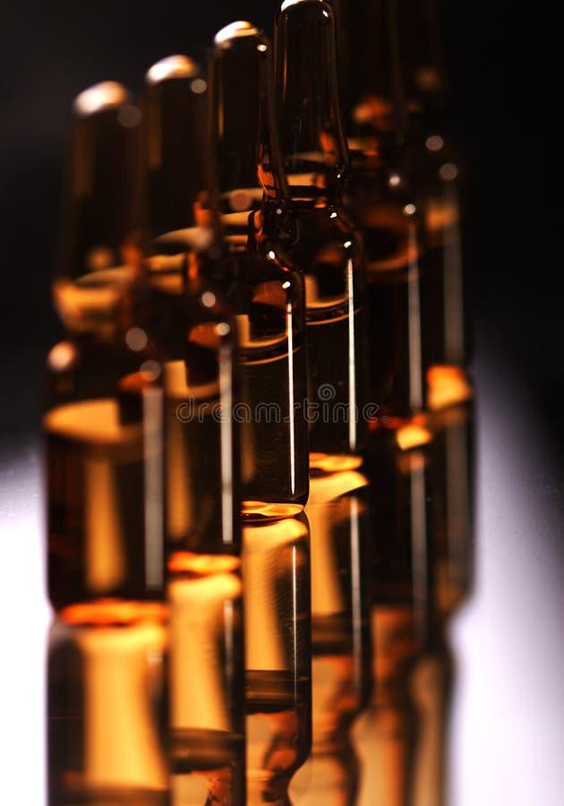 医疗的一次用量的针剂 免版税库存图片