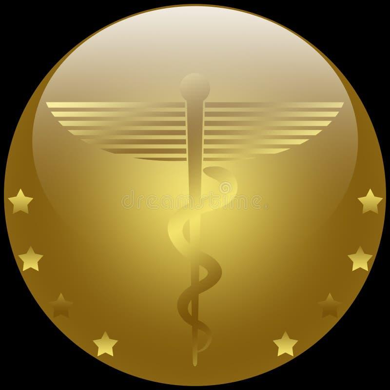 医疗的众神使者的手杖 库存例证