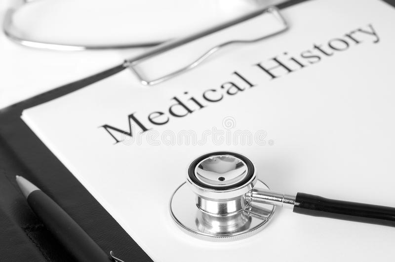 医疗的历史记录 免版税库存图片