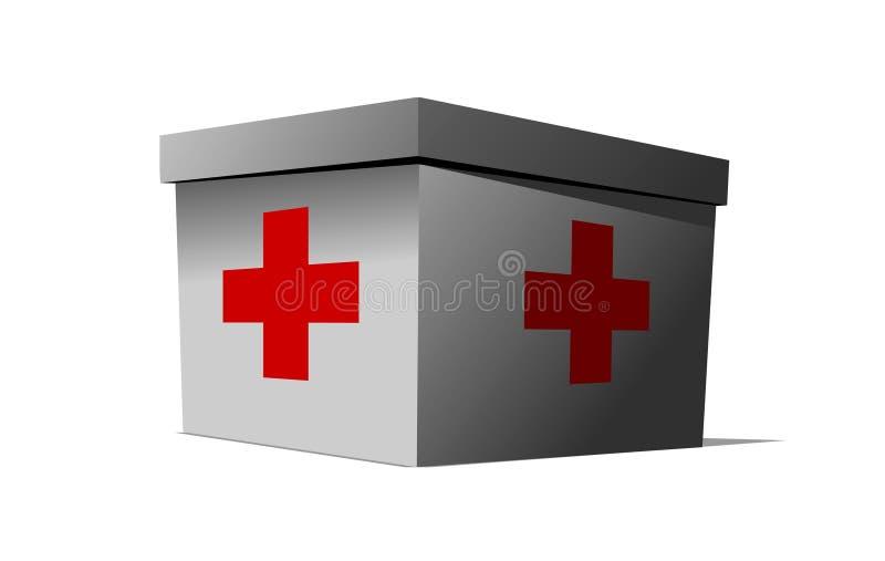 医疗的工具箱 皇族释放例证