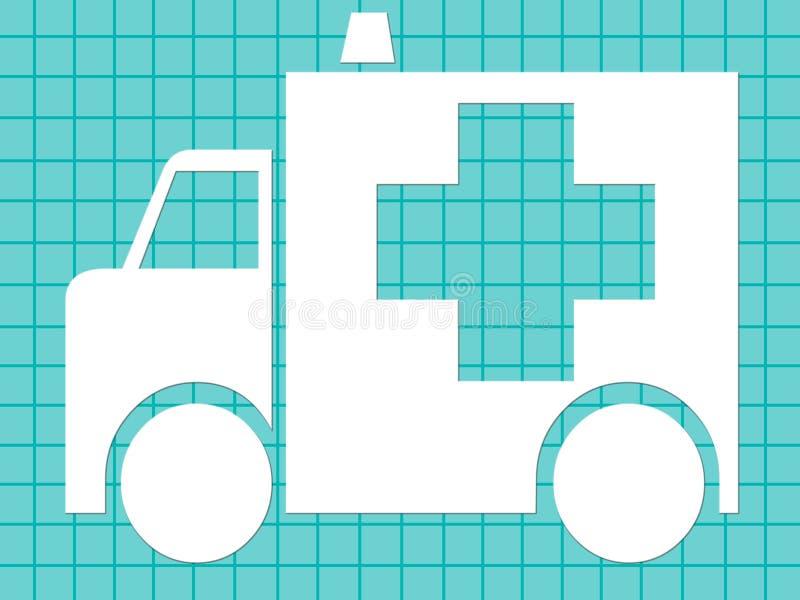 医疗的救护车 库存例证