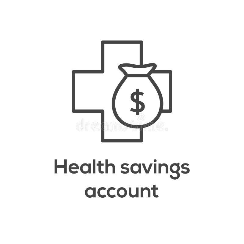 医疗税储款-健康储蓄帐户或灵活的spendin 库存例证