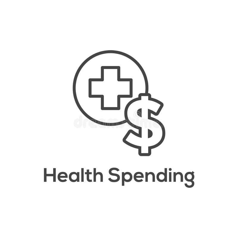 医疗税储款-健康储蓄帐户或灵活的spendin 皇族释放例证
