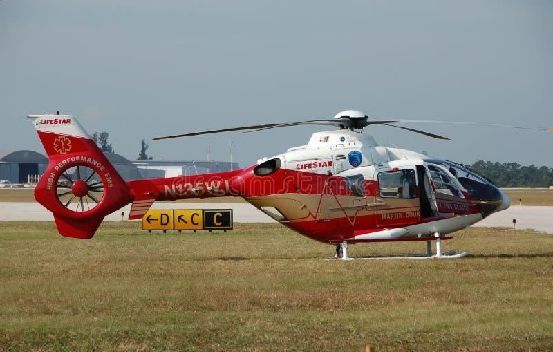 医疗空运的直升机 库存图片
