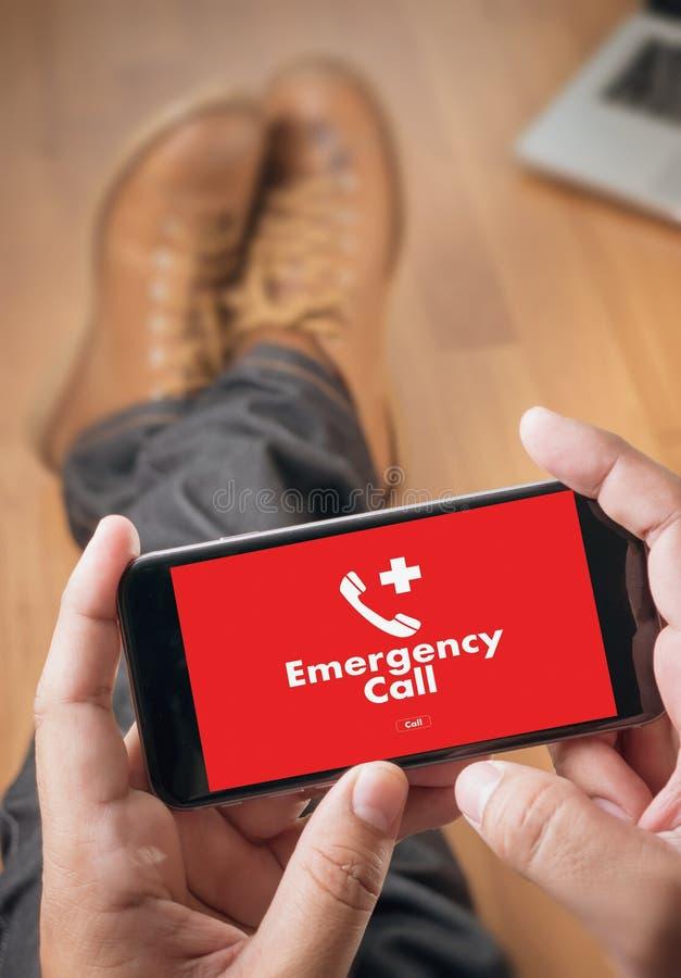 医疗紧急呼叫中心服务迫切偶然的热线 库存照片