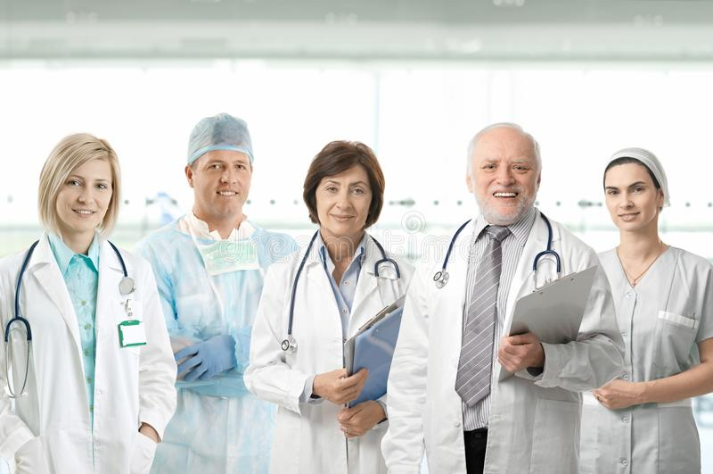 医疗纵向专业人员小组 库存图片