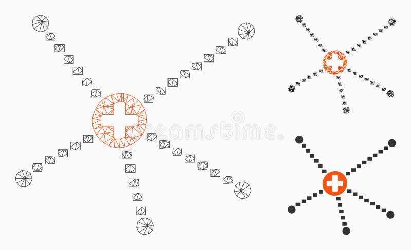 医疗联系导航网状网络模型和三角马赛克象 皇族释放例证
