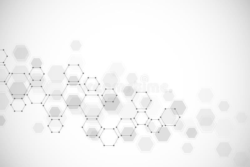 医疗背景或科学设计 分子结构和化合物 几何和多角形 图片