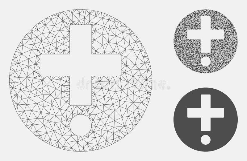 医疗药房传染媒介网状网络模型和三角马赛克象 皇族释放例证