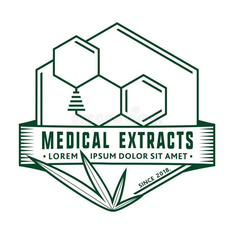 医疗萃取物商标设计模板 传染媒介和例证 向量例证
