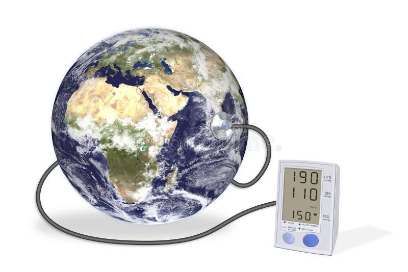 医疗设备的地球 免版税库存照片