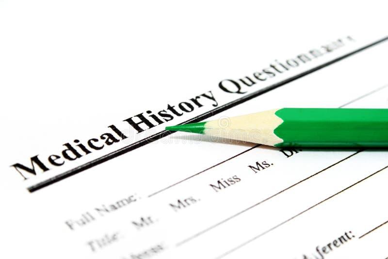 医疗调查表 免版税库存图片