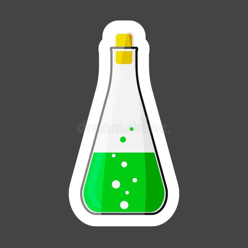 医疗配药电灯泡传染媒介象  化学制品的烧瓶 皇族释放例证