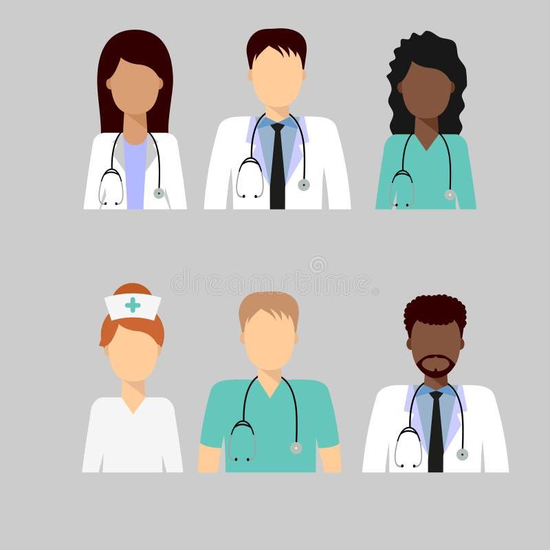 医疗队具体化2 向量例证