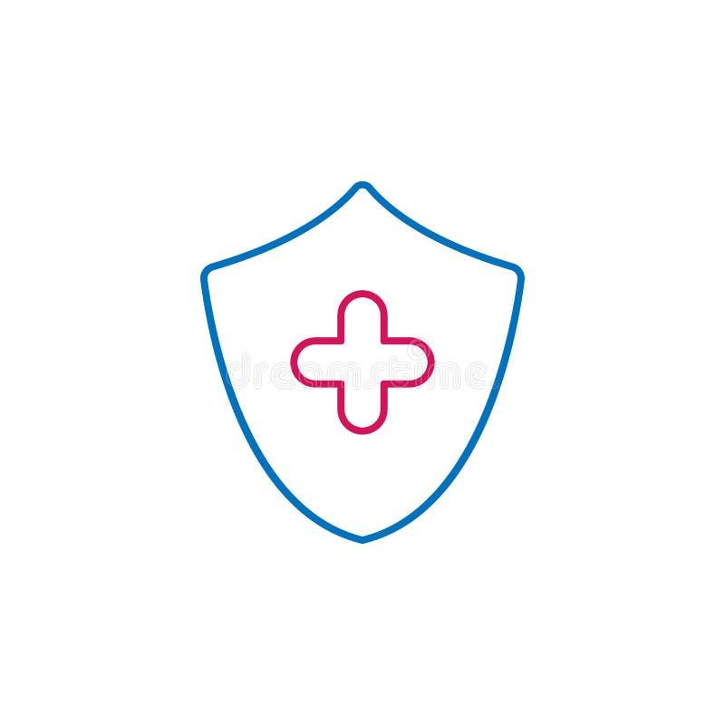 医疗,卫生防护色的象 医学例证的元素 标志和标志象可以为网,商标使用, 库存例证