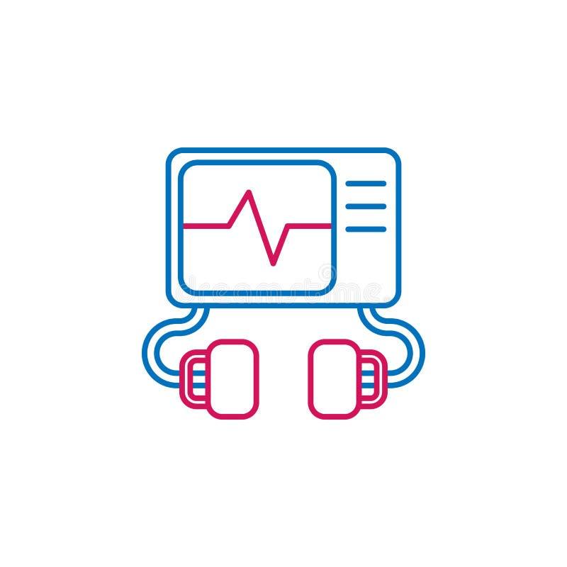 医疗,去纤颤器上色了象 医学例证的元素 标志和标志象可以为网,商标,机动性使用 向量例证