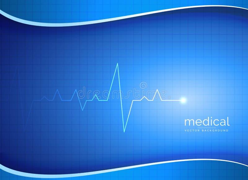 医疗,药房或者医疗保健传染媒介背景与心脏bea 皇族释放例证