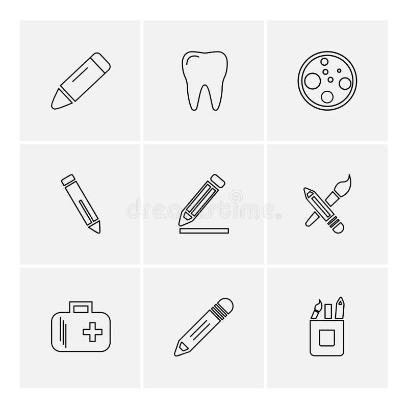 医疗, surgury,工具,固定式,铅笔,笔, eps象 皇族释放例证
