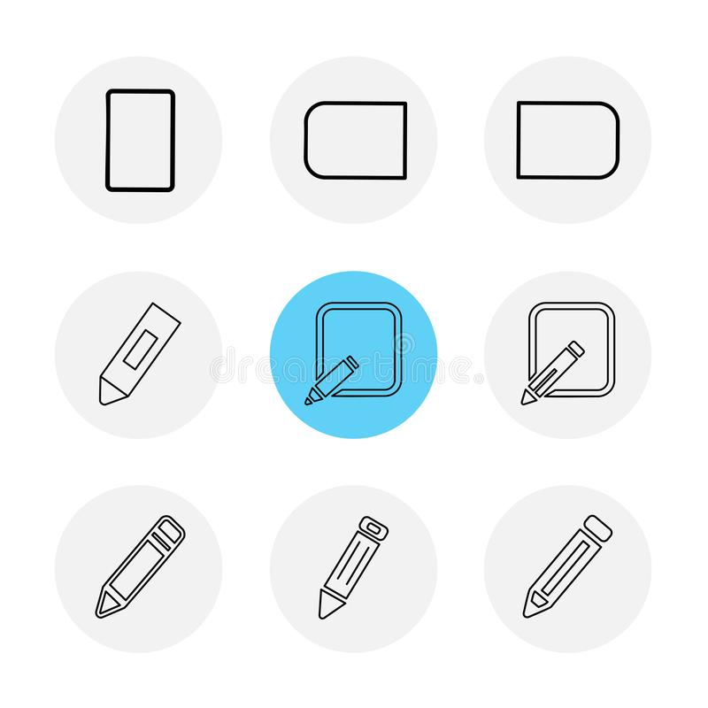 医疗, surgury,工具,固定式,铅笔,笔, eps象 库存例证