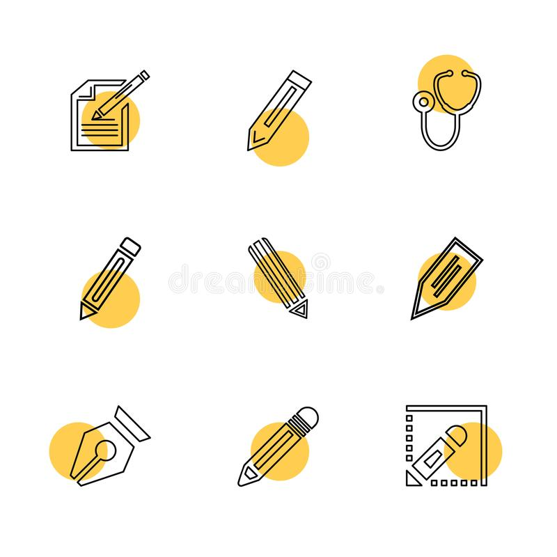 医疗, surgury,工具,固定式,铅笔,笔, eps象 向量例证